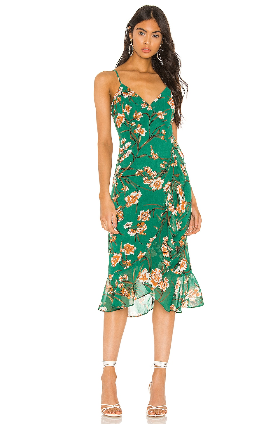 Bardot Malika Dress in Orange Floral