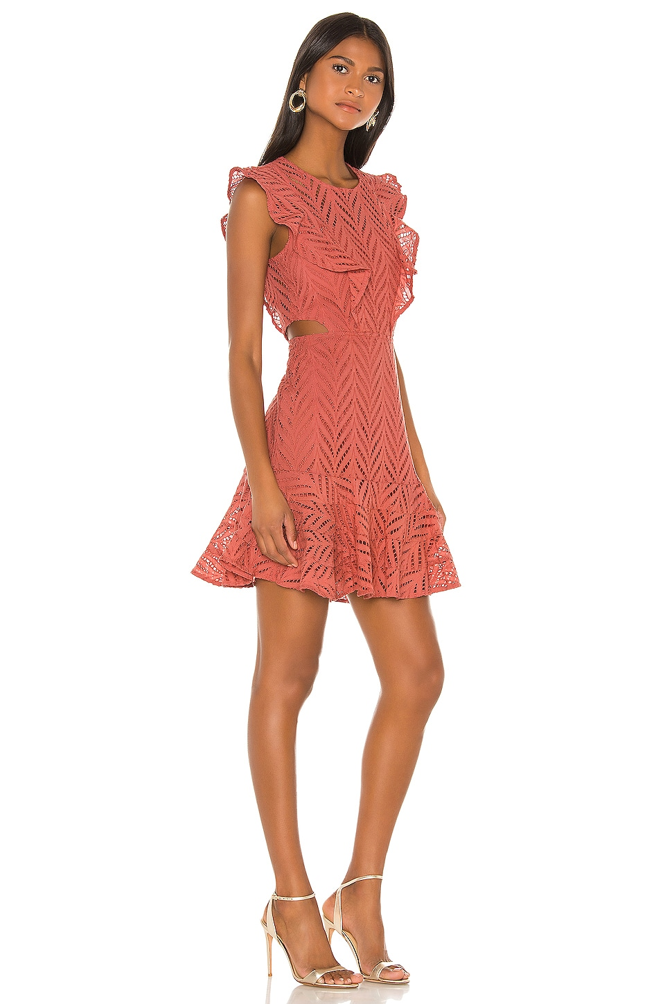 Bardot Aria Dress in Moroccan Rose