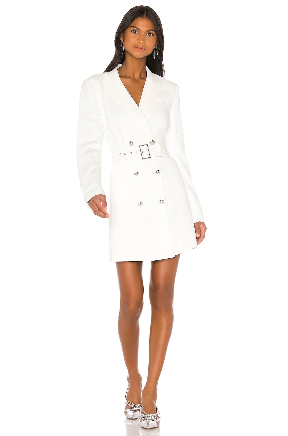 Bardot Addy Blazer Dress in Ivory
