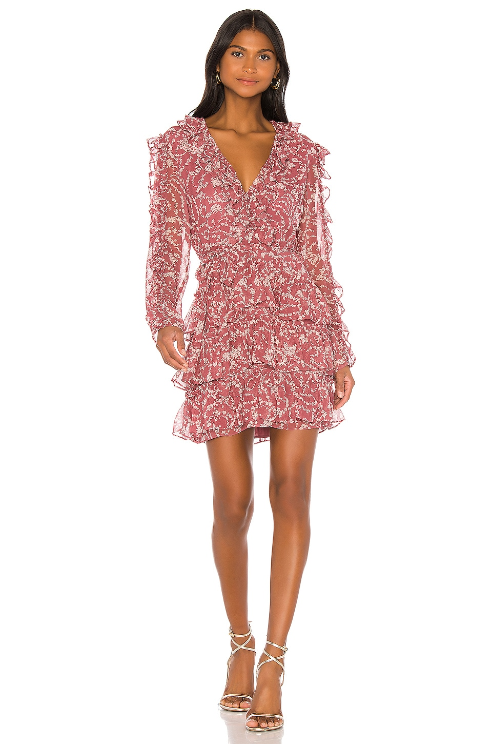 Bardot Alessia Frill Dress in Ditsy Floral