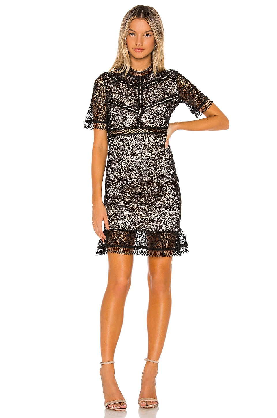 Bardot Theodora lace Dress in Black