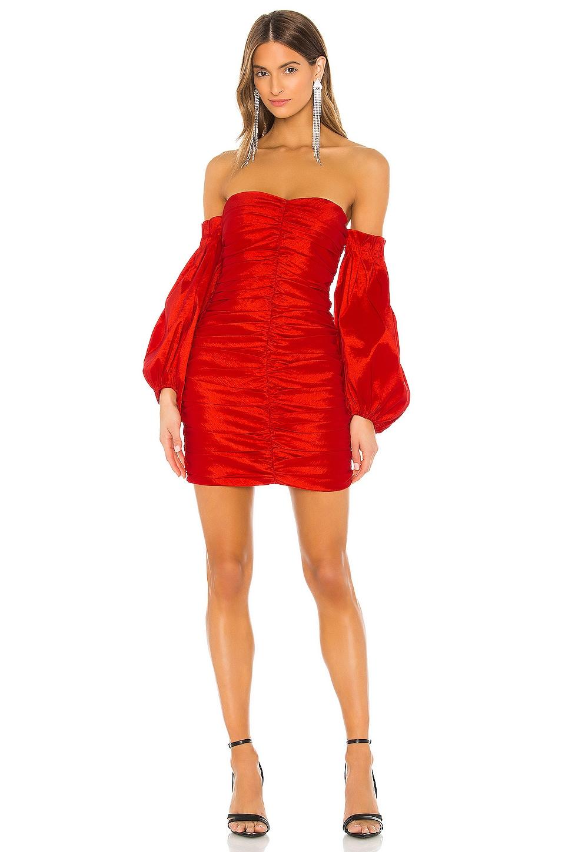 Bardot Marissa Mini Dress in Lipstick Red