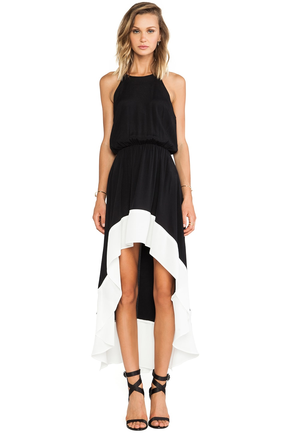Bardot Collette Dress in Black & White