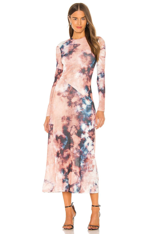 Bardot Tie Dye Dress in Multi Tie Dye