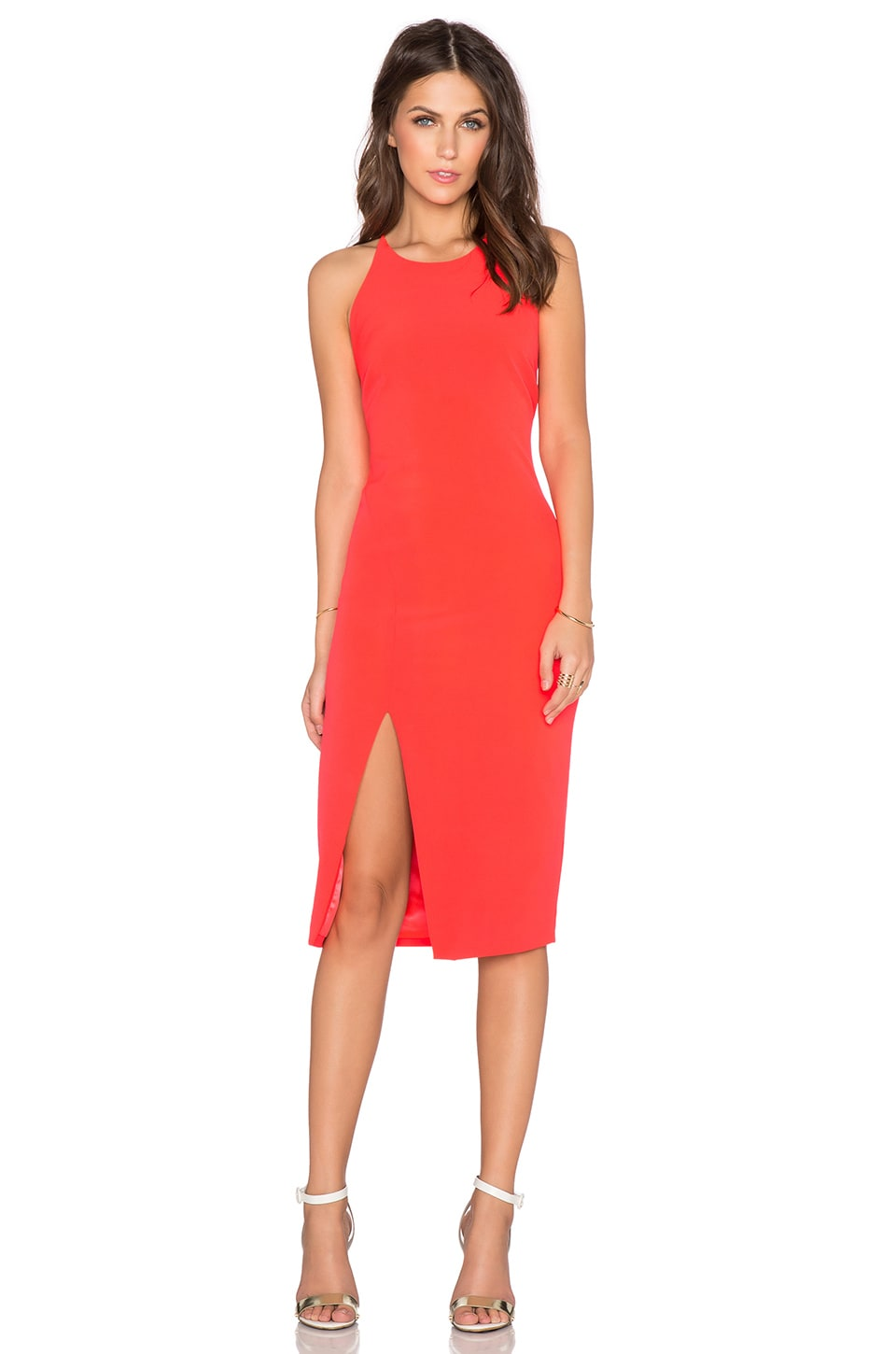Bardot Cara Asym Dress in Fusion Pink