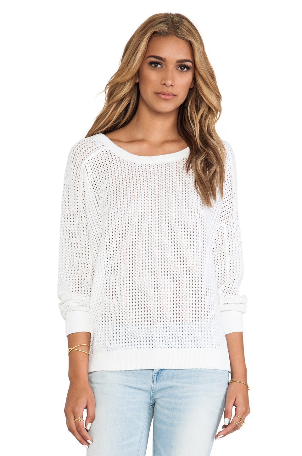 Bardot The Boyfriend Jumper in White