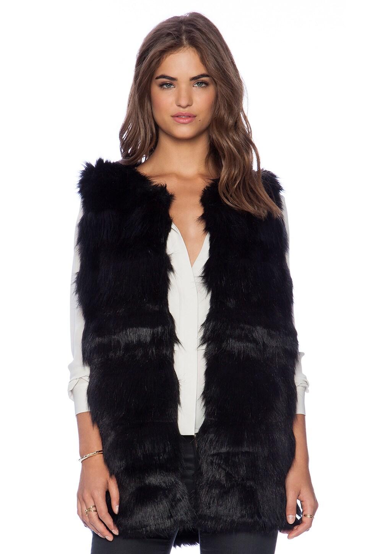 Bardot Naomi Fur Vest in Black