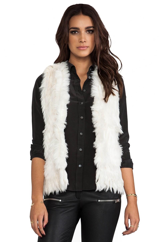 Bardot Faux Foxy Vest in Ivory