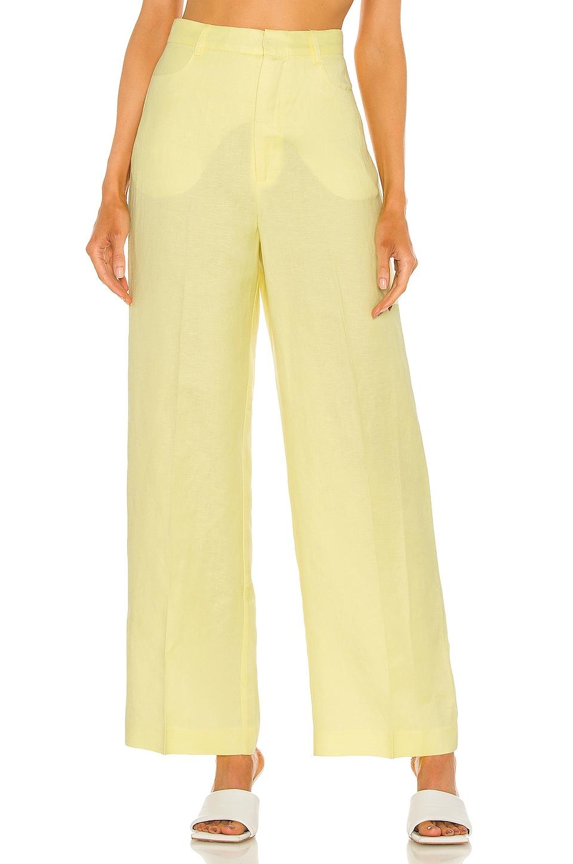 Bardot Summer Linen Pant in Sunshine