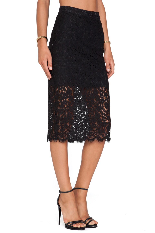 Bardot Sienna Lace Midi Skirt in Black | REVOLVE