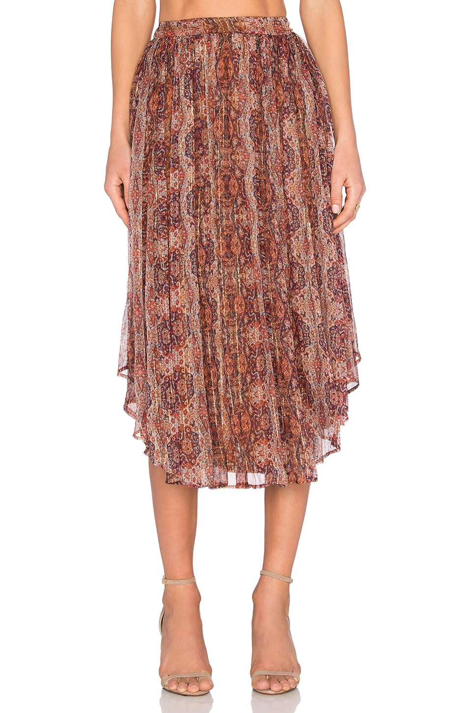 Bardot Moroccan Tile Skirt in Tapestry Print