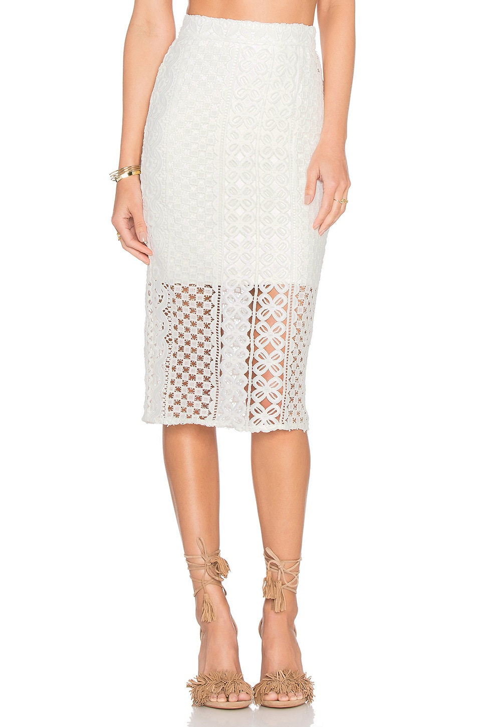 Calista Lace Skirt by Bardot