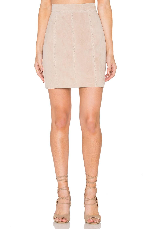 Bardot Pebble Suede Mini Skirt in Pebble