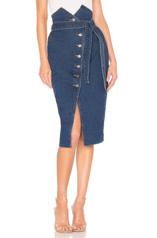 Bardot Kyla Denim Skirt in Vintage Wash
