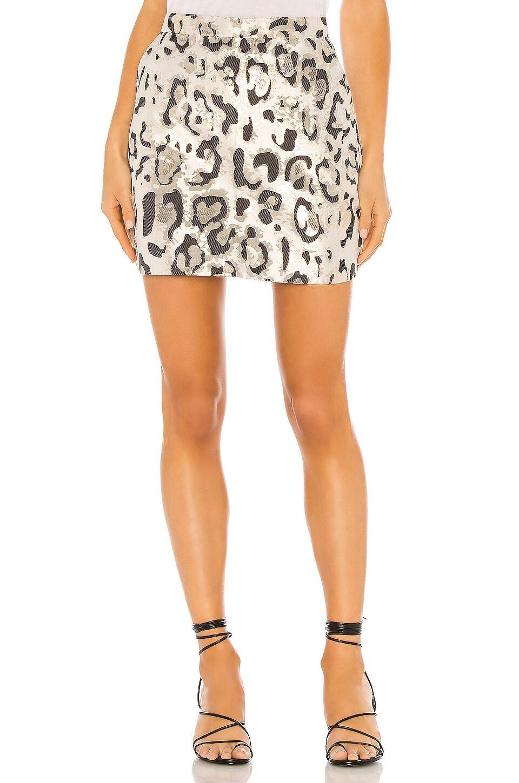 Bardot Metallic Leo Mini Skirt in Animal