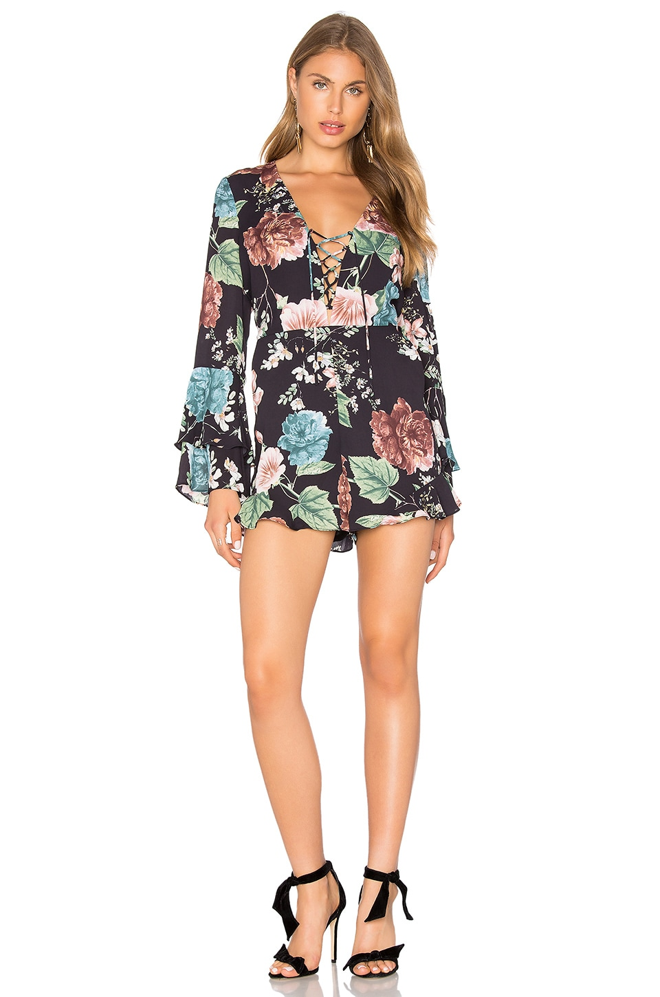 Bardot Amelia Playsuit in Harmony Floral