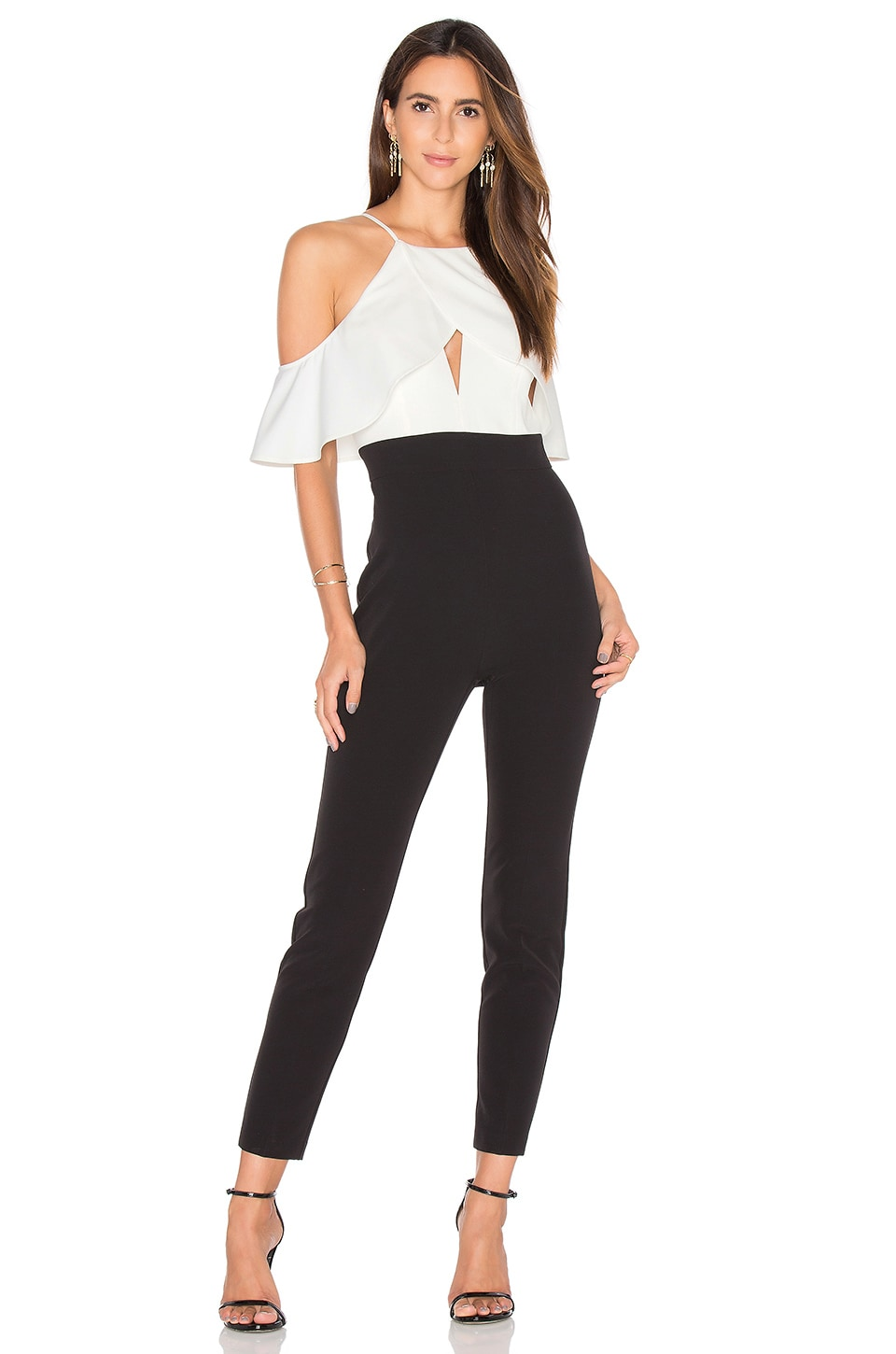 Bardot Marlee Jumpsuit in Black & White