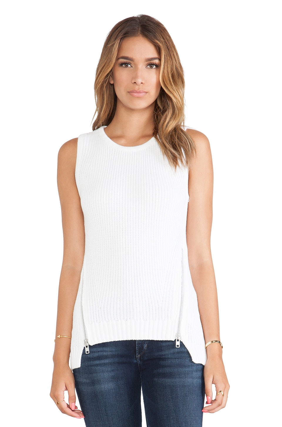Bardot Miley Zip Top in Ivory