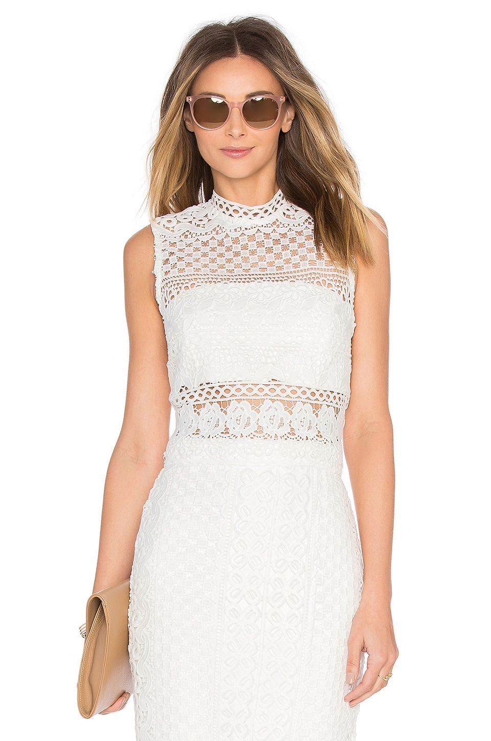Bardot Calista Lace Top in Ivory