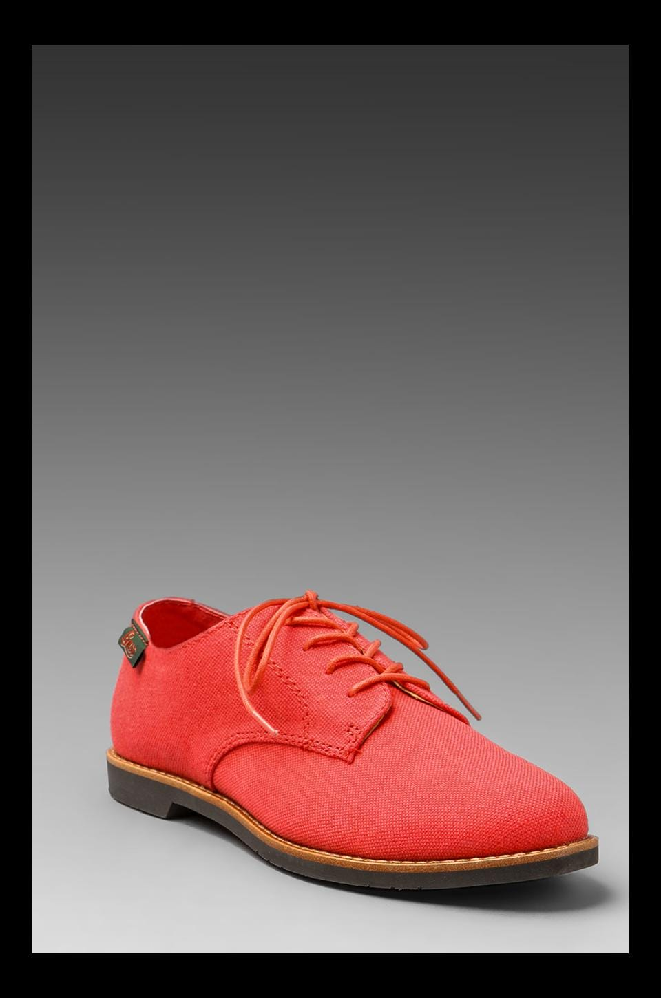 Bass Ely Oxford Shoe in Hot Coral