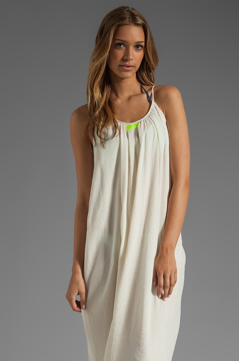Basta Surf Cocos Dress in Ivory/Yellow