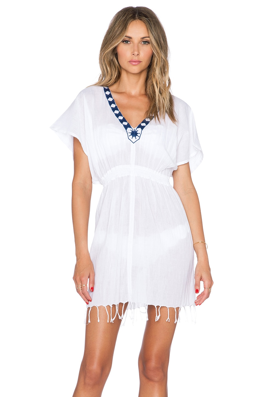 Basta Surf Islita Tunic in White & Blue
