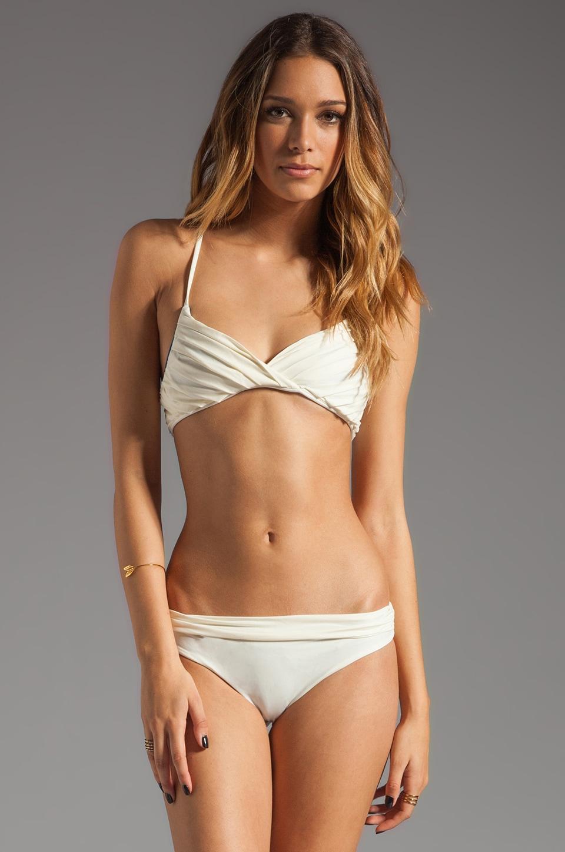 Basta Surf Tallows Reversible Bikini Top in Ivory/Peacock