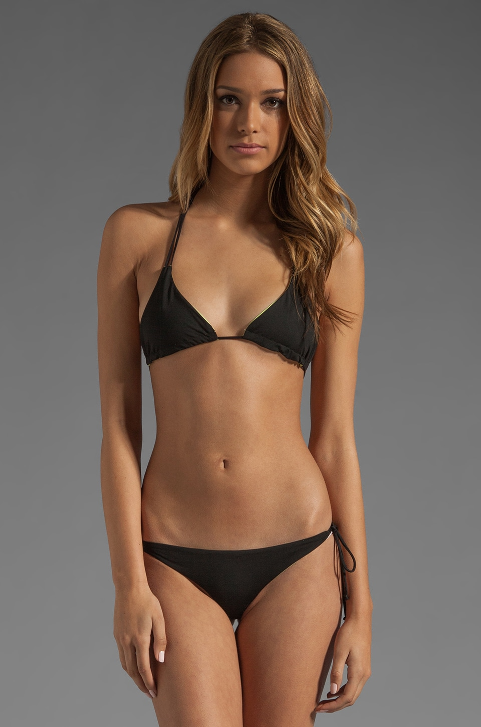 Basta Surf Kikitas Reversible Bikini Top in Black/Acid