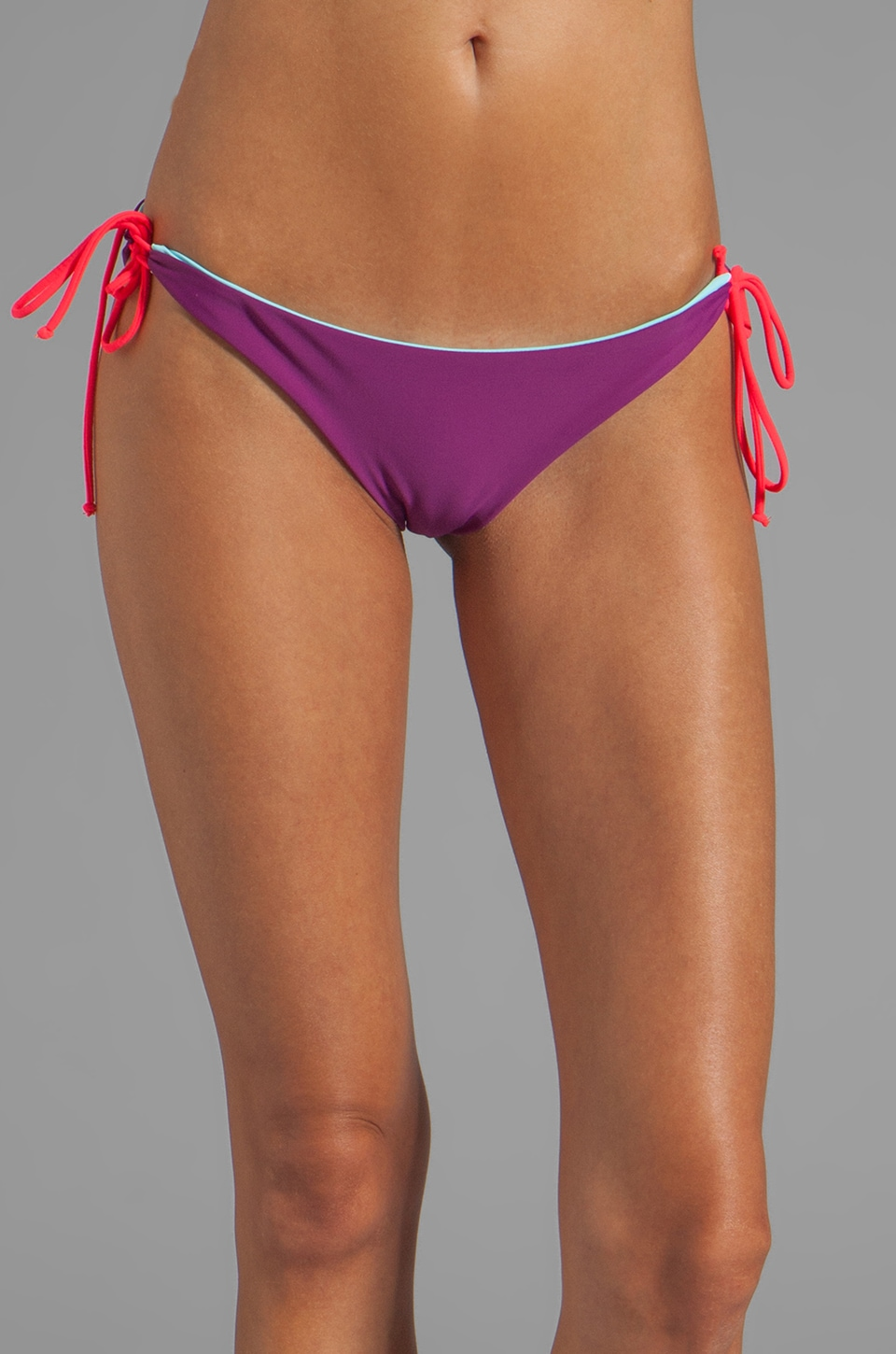 Basta Surf Kikitas Reversible Ruched Bottom in Sailing/Eggplant/Bunny