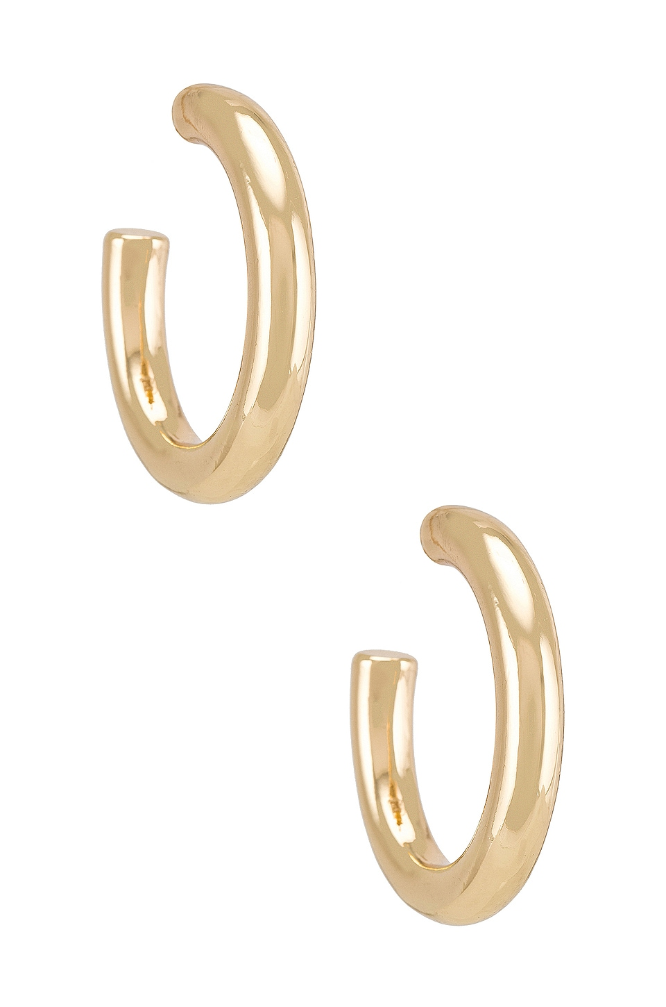 BaubleBar Chrissey Hoop Earrings in Gold
