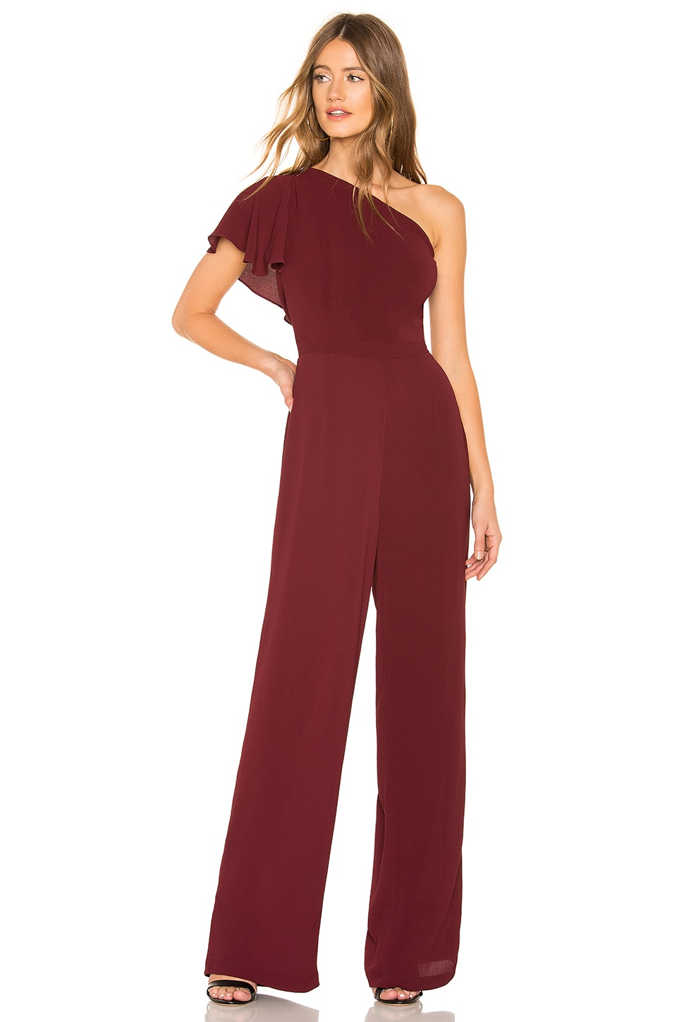 BB Dakota LA Woman Jumpsuit in Bordeaux