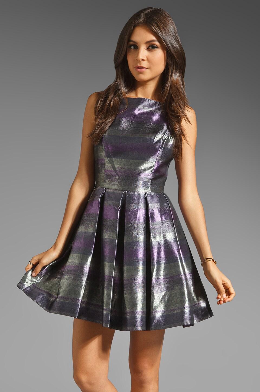 BB Dakota Jensine Horizons Jacquard Dress in Purple