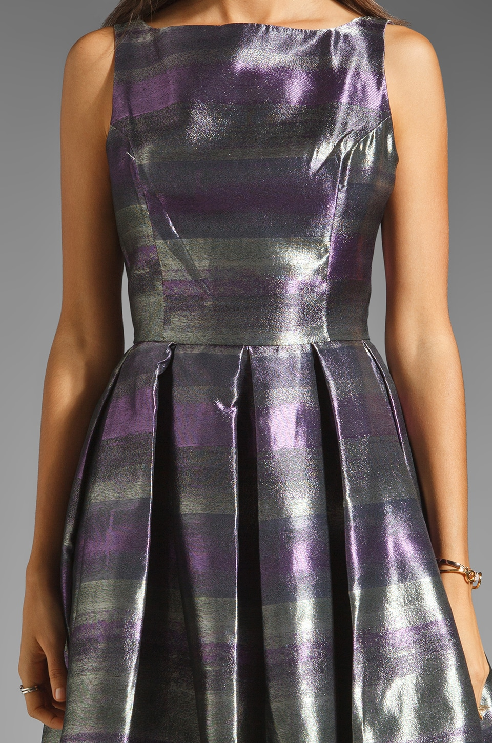 BB Dakota Jensine Horizons Jacquard Dress in Purple