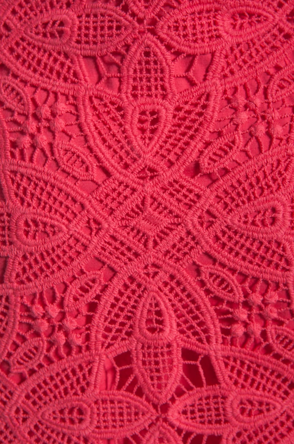 BB Dakota Maiden Crochet Lace Dress in Fiery Pink