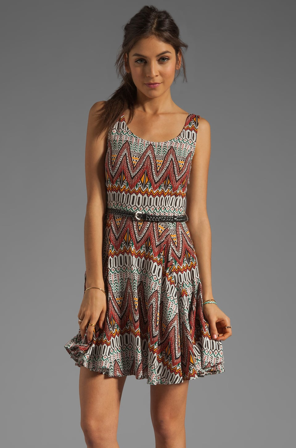 BB Dakota Audrian Madeira Printed Dress in Multi