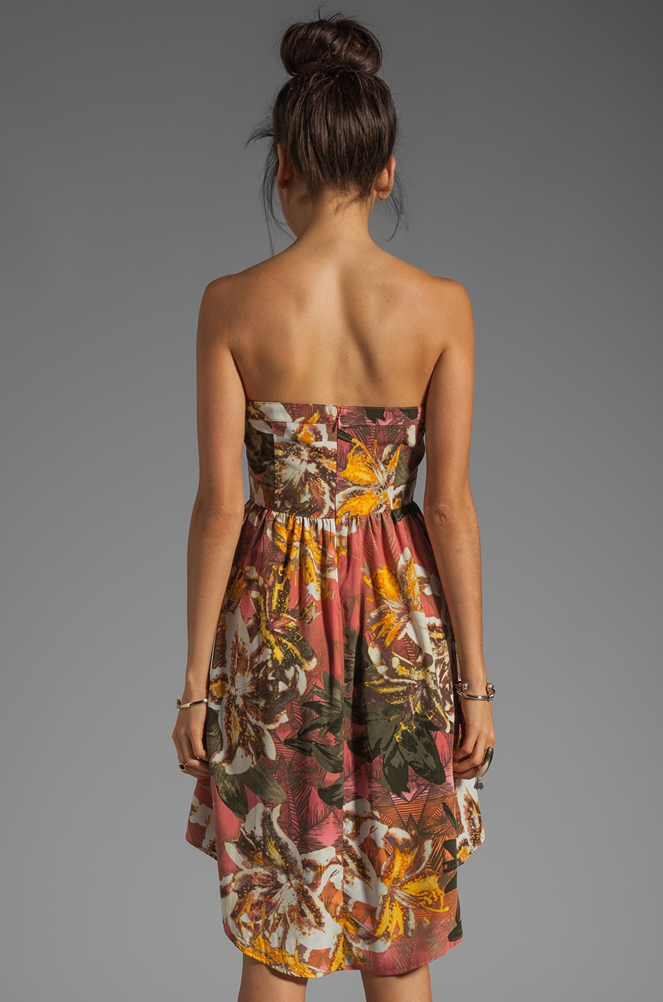 BB Dakota Stillman Orchid Printed Dress in Travertine