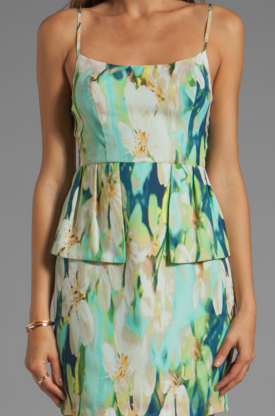 BB Dakota Debralyn Palm Beach Printed Dress in Mint Julep