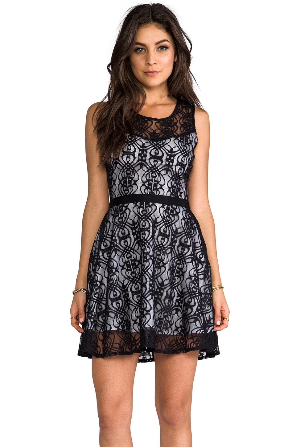 BB Dakota Diza Nouveau Lace Dress in Black