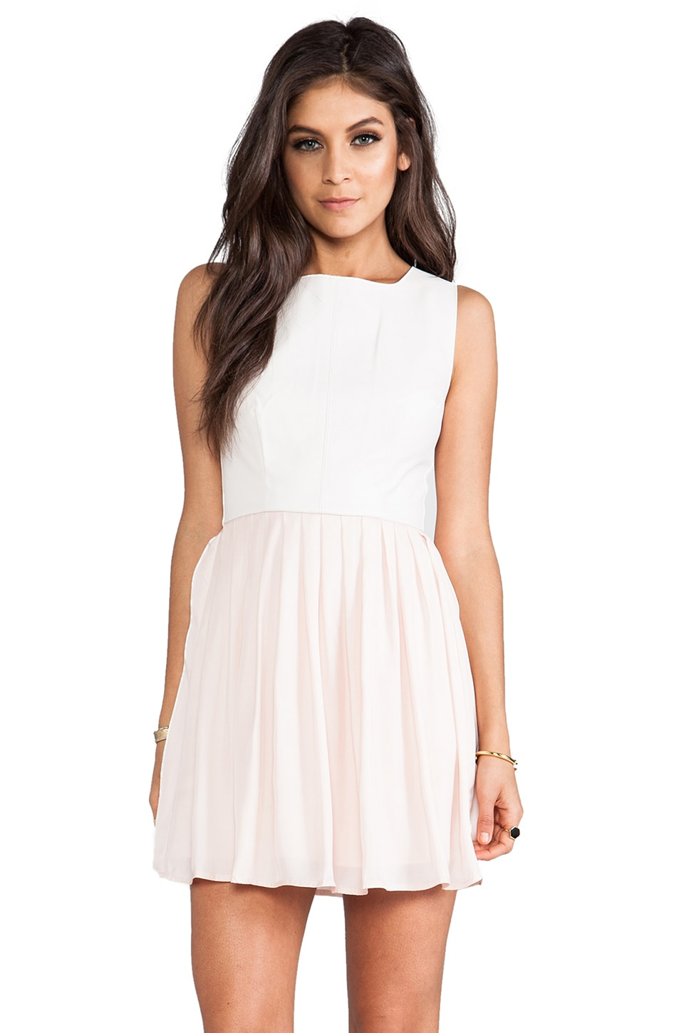 BB Dakota Camille Fit & Flare Dress in Peach Blush