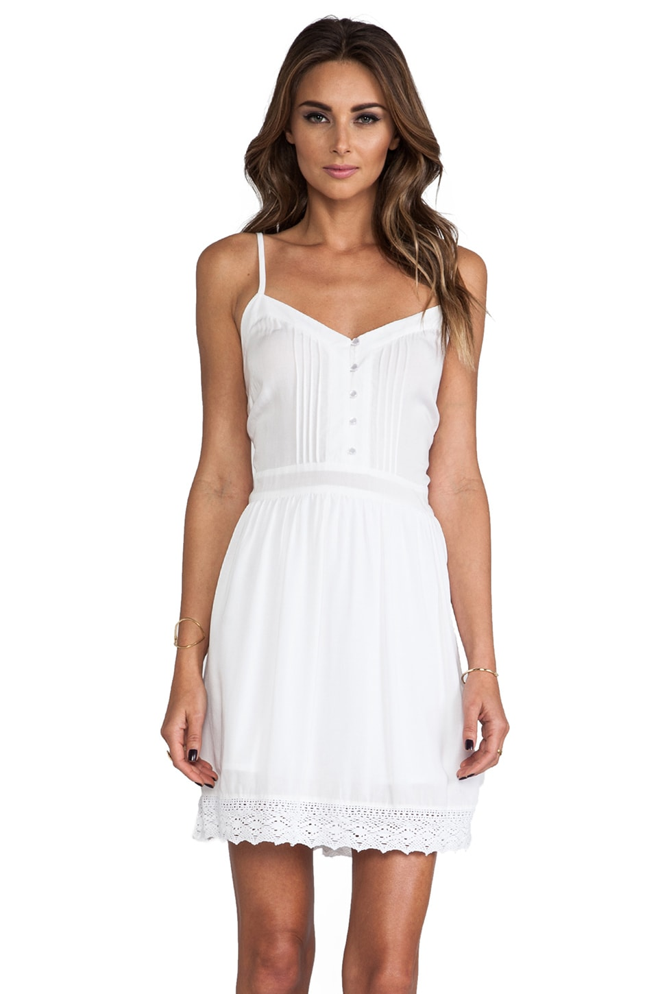 BB Dakota Abelia Challis Mini Dress in White