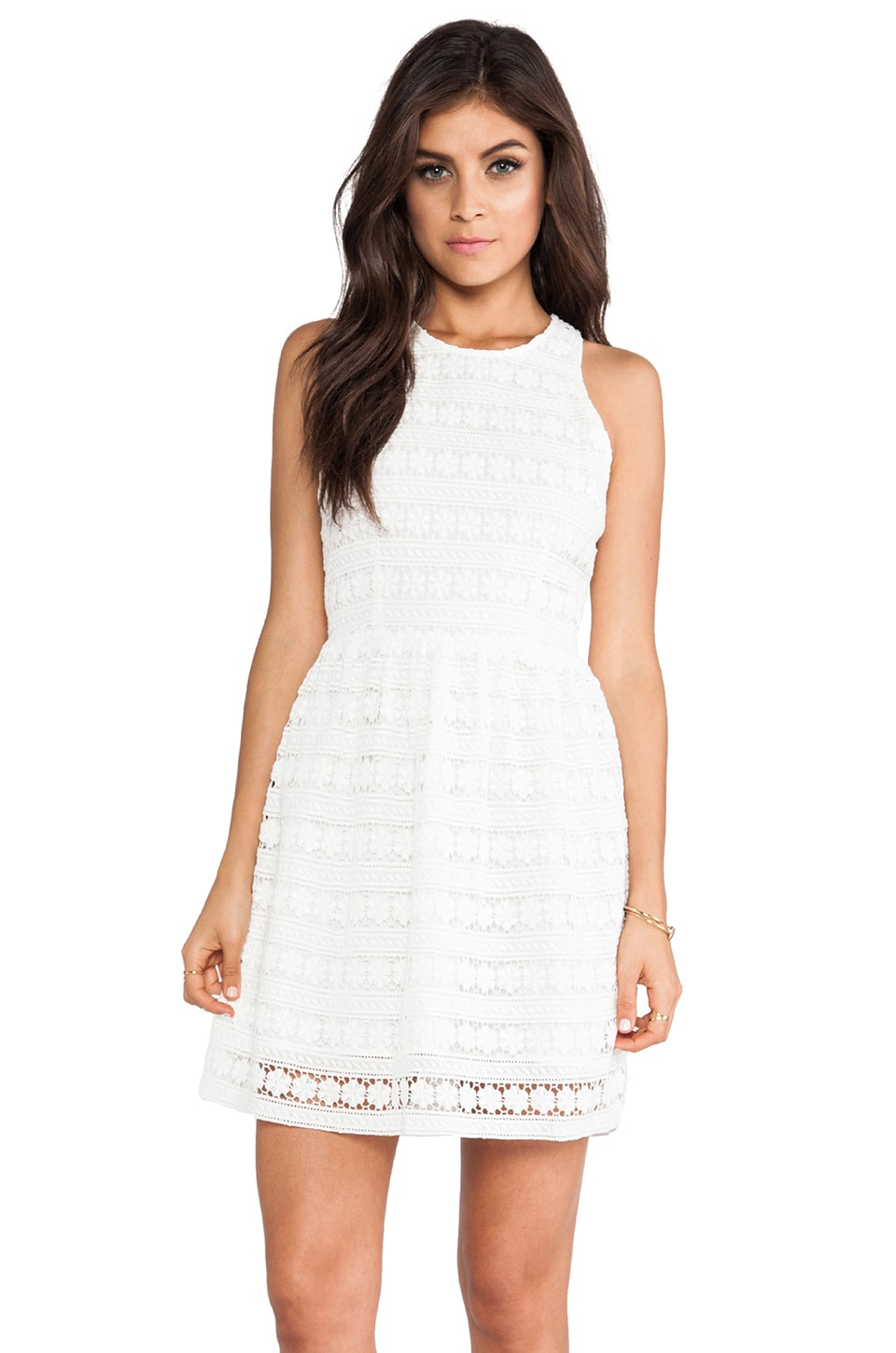 BB Dakota Andree Crochet Dress in Ivory