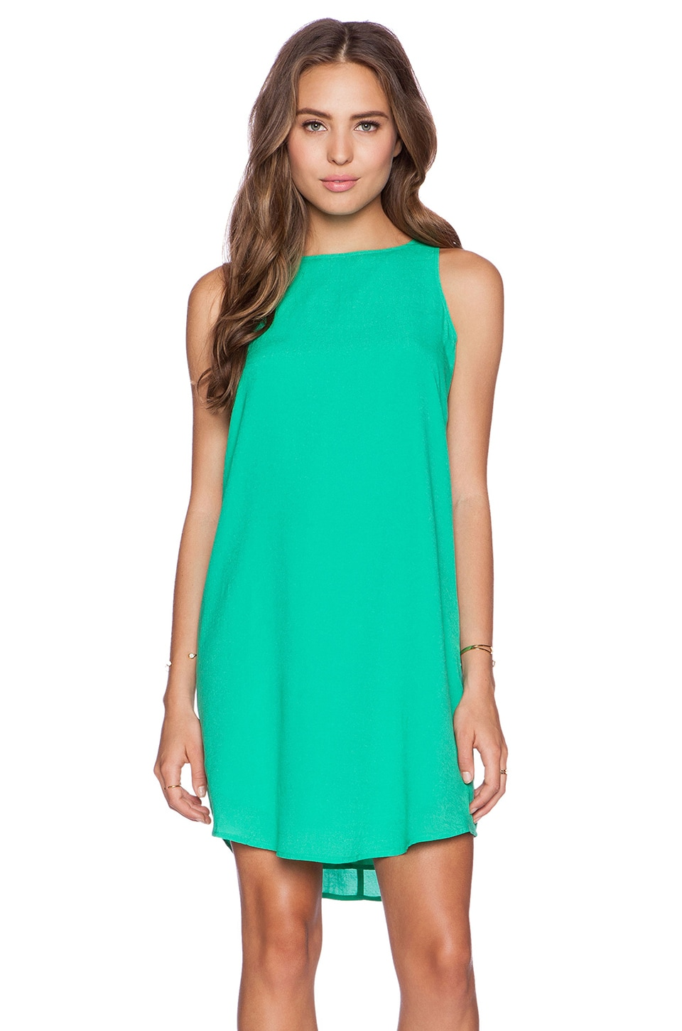 BB Dakota Colleen Mini Tank Dress in Jade