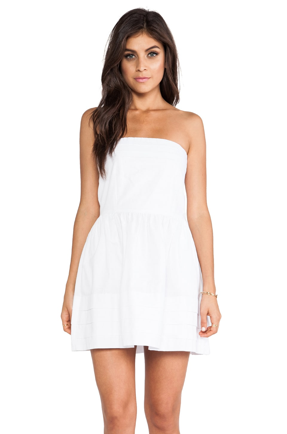 BB Dakota Megalyn Strapless Dress in White