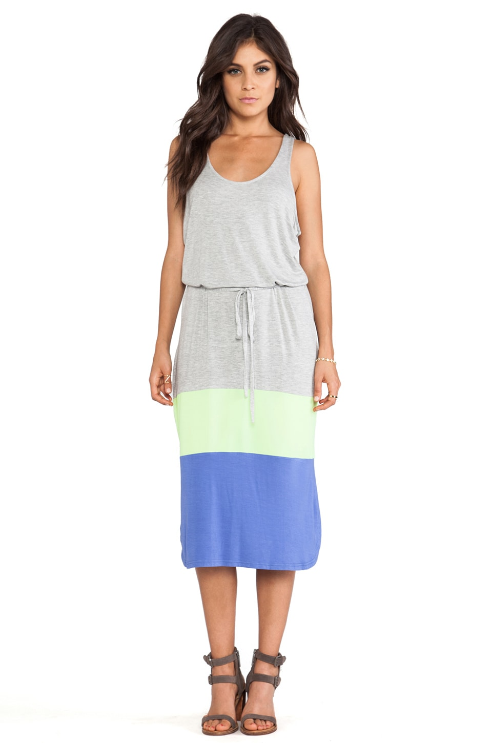 BB Dakota Carla Jersey Maxi Dress in Light Heather Grey
