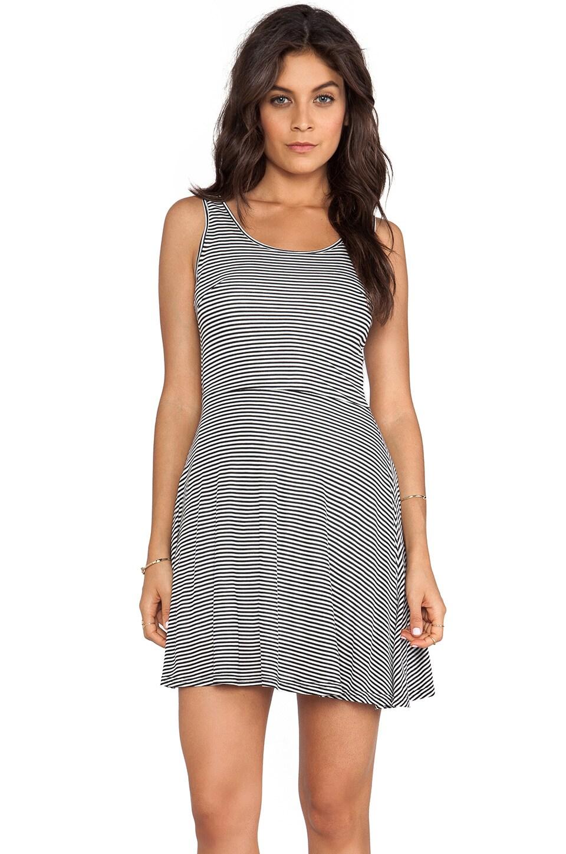 BB Dakota Lais Striped Mini Dress in Black & Ivory