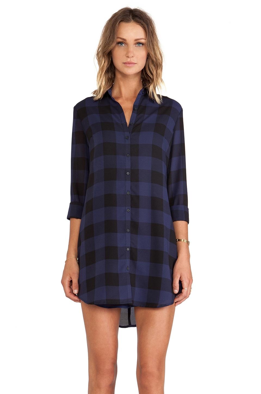 BB Dakota Keenan Plaid Shirt Dress in Ink