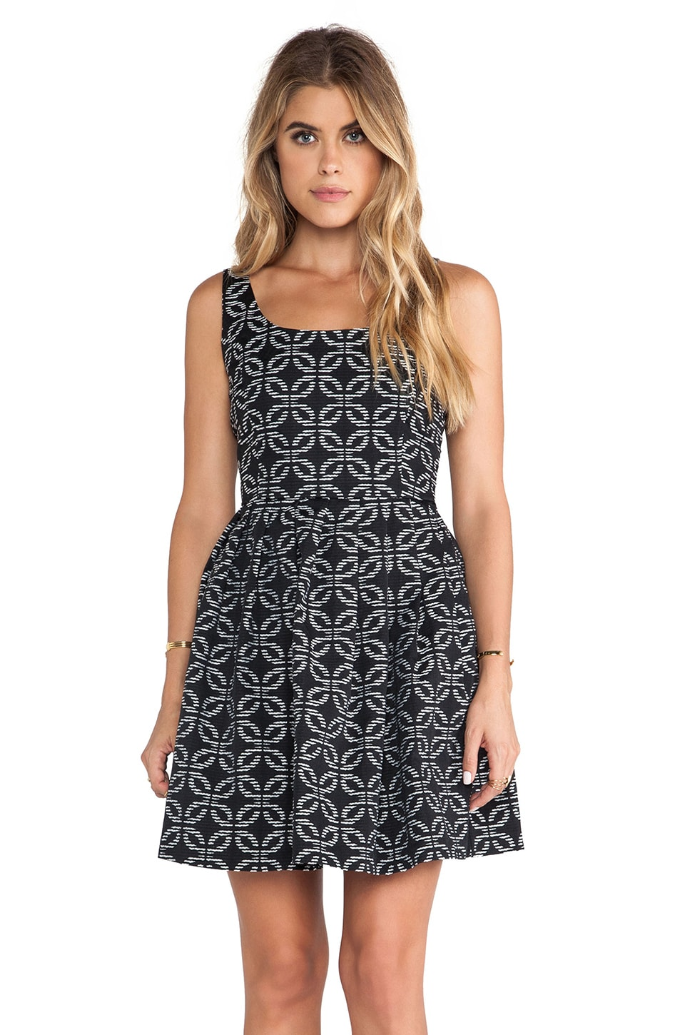 BB Dakota Dallias Tank Dress in Black & White