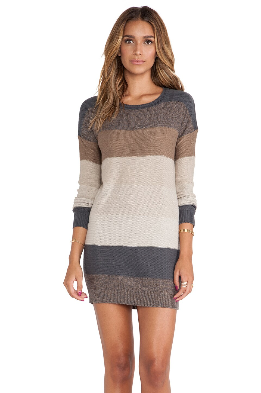 BB Dakota Marilou Sweater Dress in Khaki Multi