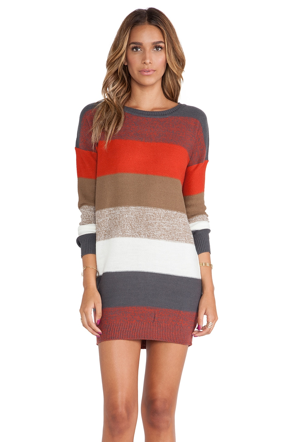 BB Dakota Marilou Sweater Dress in Red Multi