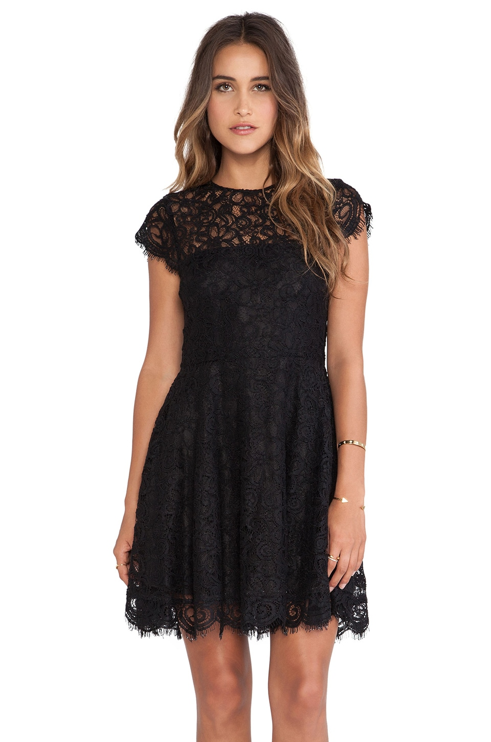 BB Dakota Rylin Lace Dress in Black | REVOLVE